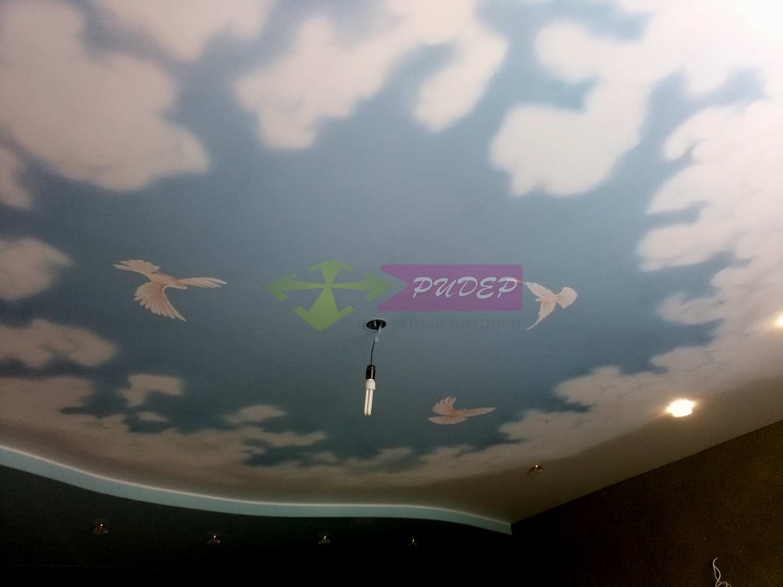 Художественная роспись на натяжных потолках
