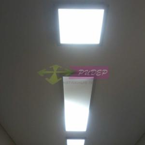 Светильники в натяжных потолках в Калининграде по ул. Пограничная