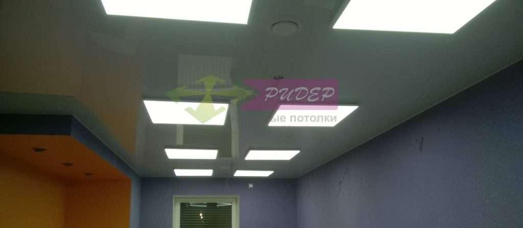 Монтаж натяжных потолков в офисе