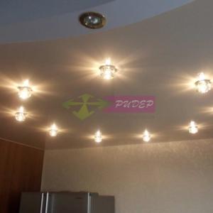 Светильники в натяжных потолках в Калининграде по ул. Рылеева