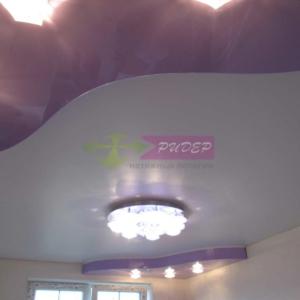 Светильники в натяжных потолках в Калининграде по ул. Саратовская