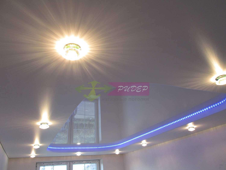 Светильники в натяжных потолках в Калининграде по ул. Сельская