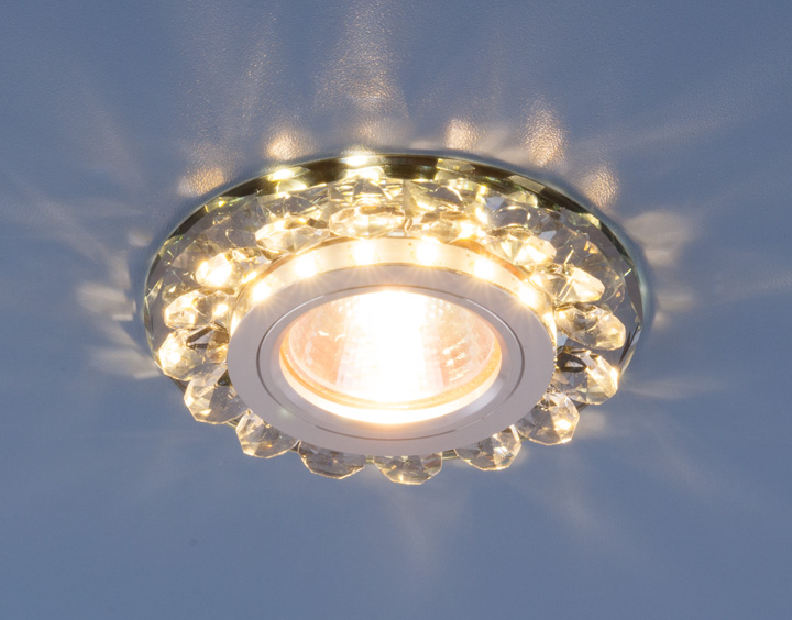 Монтаж светильников для натяжных потолков в офис