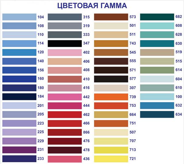 Цветовая гамма, комбинации цветов в натяжном потолке
