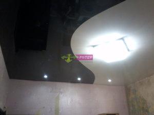 Комбинированные двухуровневые натяжные потолки в Калининграде: недорогой монтаж и установка
