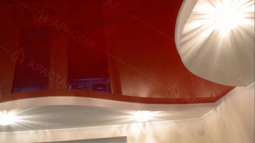 Натяжной потолок и освещение