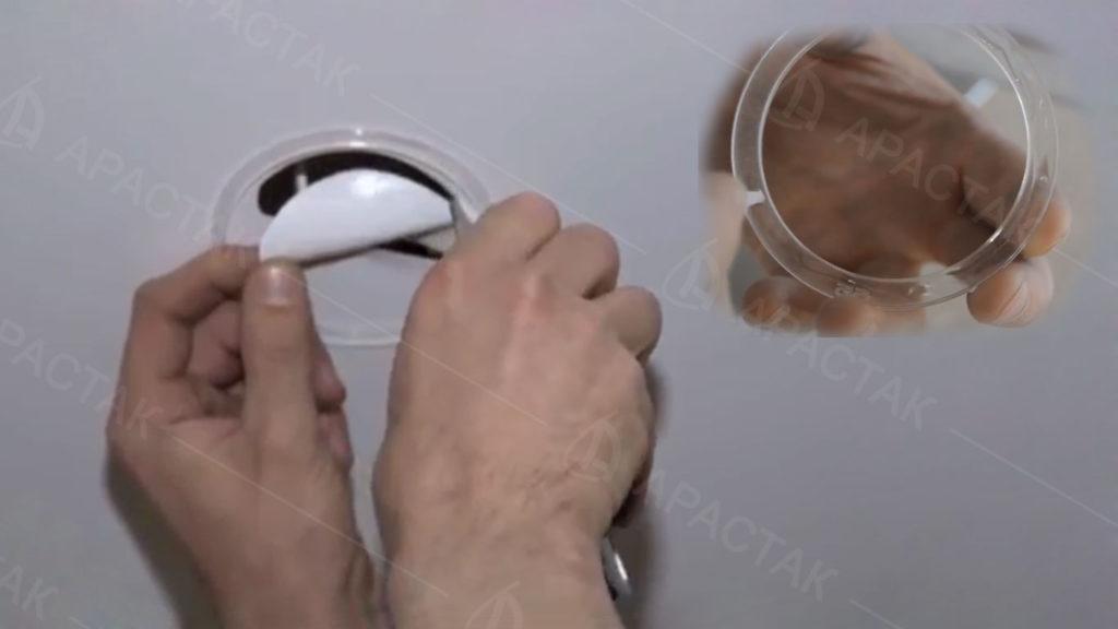 Размещение термоколец на потолке