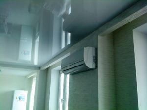 Кондиционер не помешает установке натяжного потолка