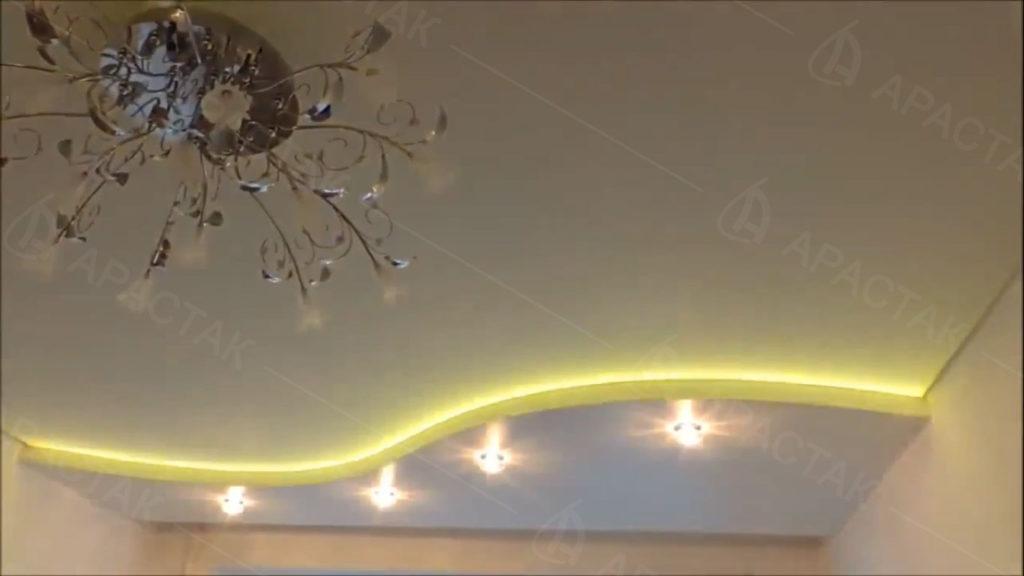 Устройство освещения в натяжных потолках в детской комнате