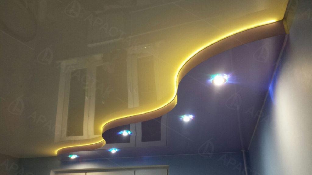 Монтаж натяжного потолка в детской для мальчика в Калининграде
