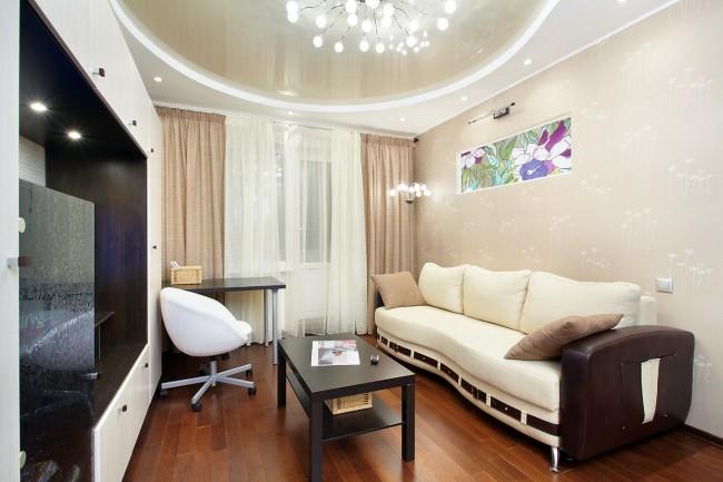 Двухуровневые потолки для гостиной и зала