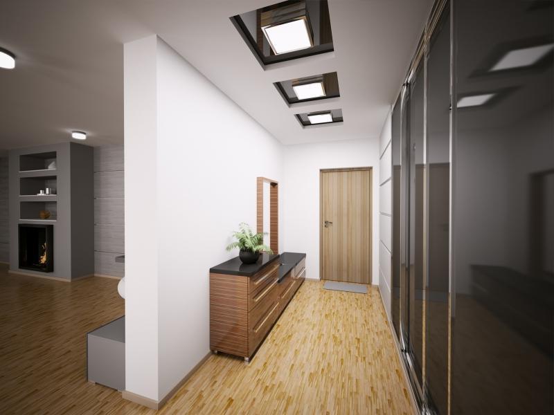 Установка натяжного потолка в коридоре